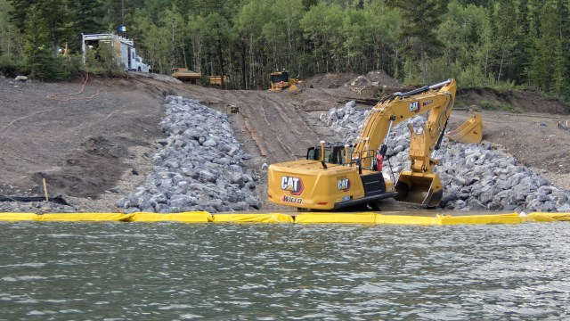 Barrier Lake boat launch extension