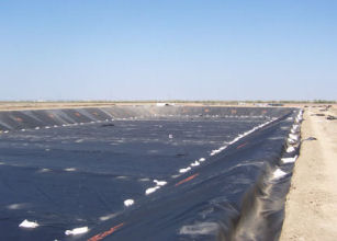 HDPE Geomembrane being used as the liner.