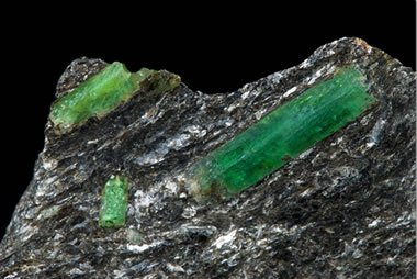 Emerald crystals in Malyshevskoye Mine