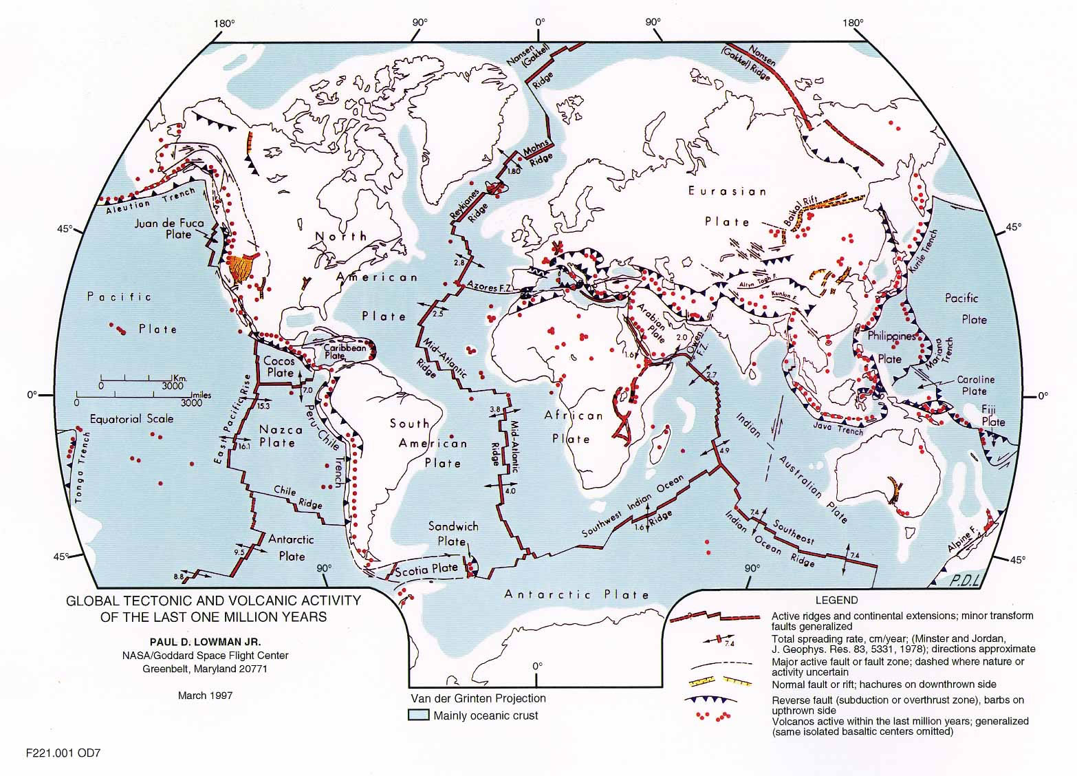 Plate Tectonics Map