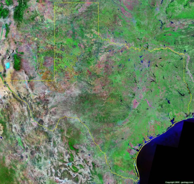 Texas Satellite Images   Landsat Color Image Texas satellite photo