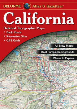 California DeLorme Atlas Road Maps Topography And More