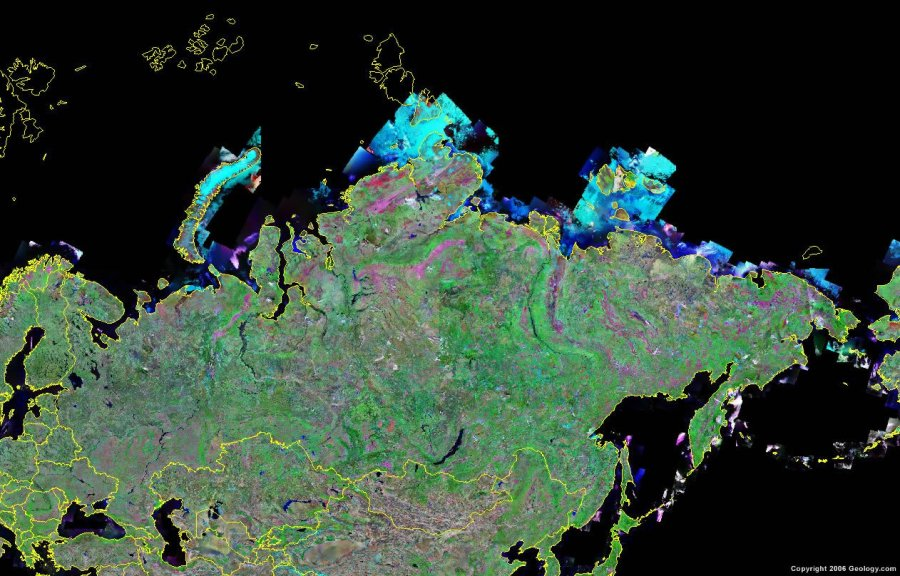 Russia Map and Satellite Image Russia satellite photo