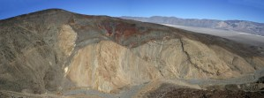 A rainbow unconformity in the Mojave Desert.