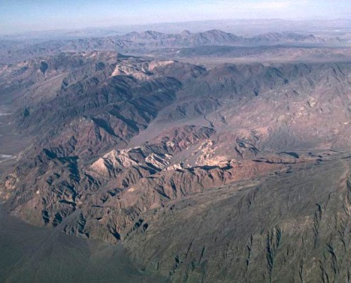 Aerial view of Black Mountains and Copper Canyon turtleback