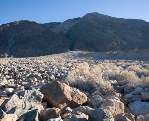 Boulders on alluvial fan, Death Valley, California.