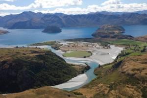 Lake Wanaka delta, NZ