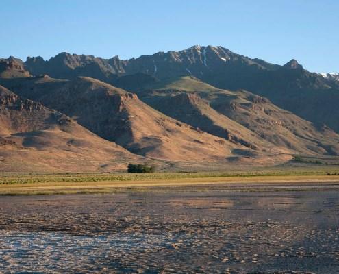 Fault-block Mountain and Desert Spring