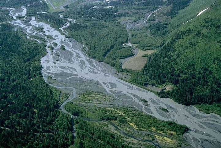 Braided River channel, Alaska – Geology Pics