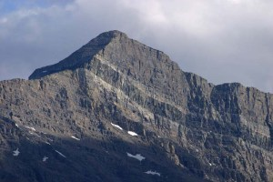 Sill intruding Dolomite of the Helena Formation, Glacier National Park, Montana