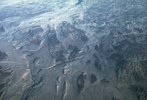 Aerial view of Channeled Scablands in Washington.