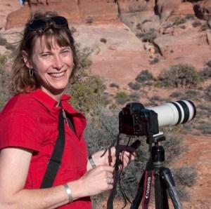 Marli taking photos in Utah.