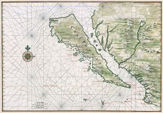 Map of California, circa 1650; restored. Image from wikipedia.org