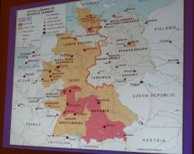 Map of reunified Germany. Photo by Laylita Day.