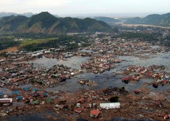 Aceh in Indonesia after the 2004 tsunami. Image from Wikipedia.org.