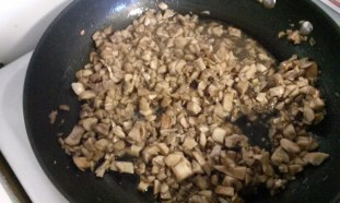 Mushrooms cooking. Photo by Laylita Day.
