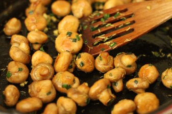 Cooking button mushrooms. Image from Google Images.