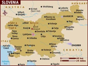 Map of Slovenia. Image from Google Images.