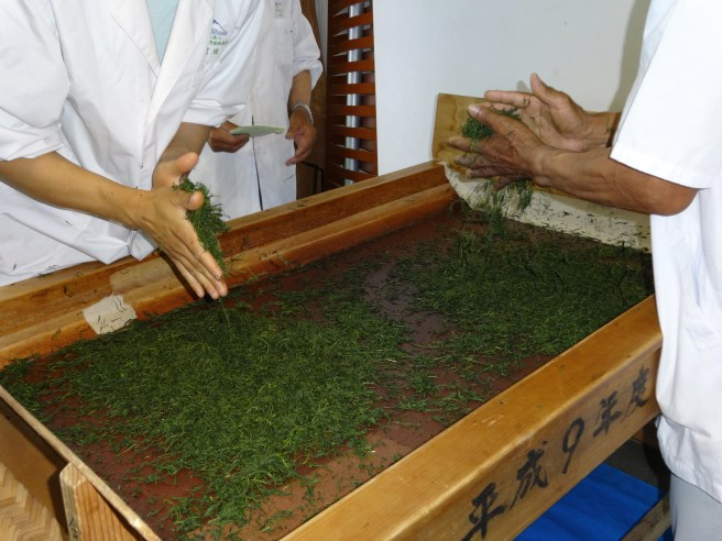 Processing green tea. Image from Wikipedia.