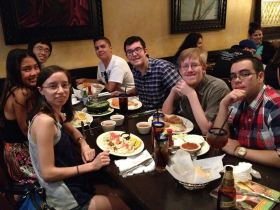 The members of the GSA at Los Compadres. Photo taken by a GSA member.