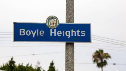 Boyle Height street sign. Image from Google Images.