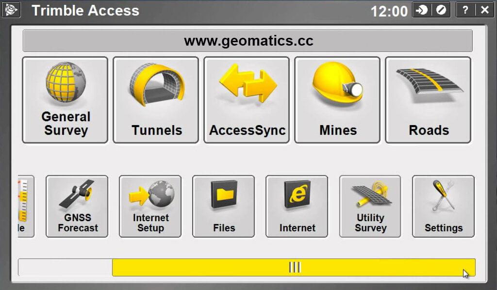 Trimble Access Screenshot