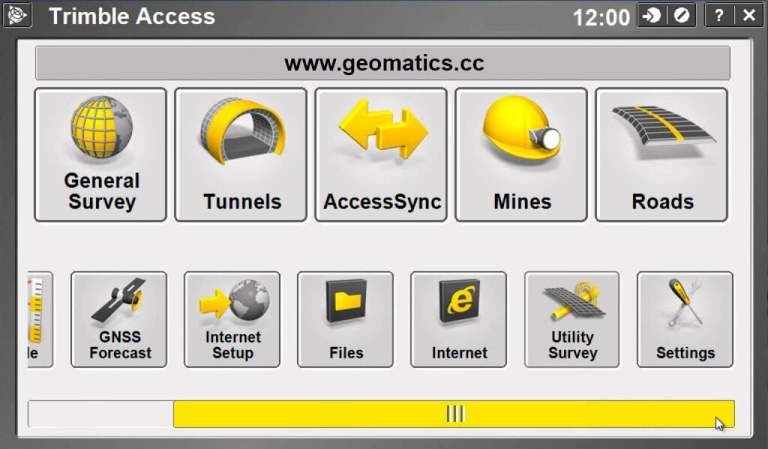 Trimble Access Screenshot