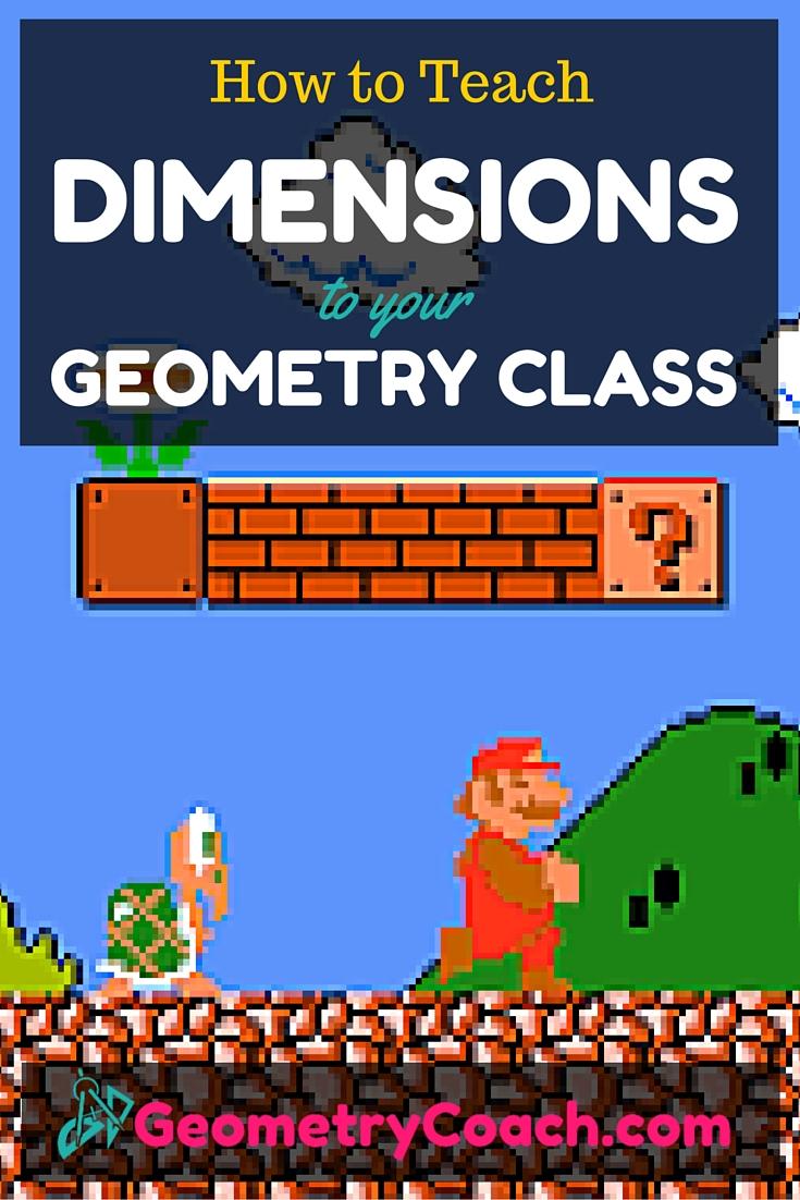 teaching geometry dimensions