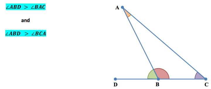 Exterior Angle Inequality Theorem - Worksheet - Guided Notes - Quiz