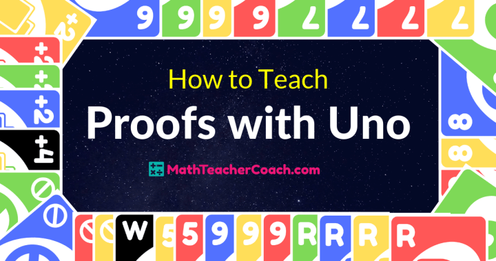 Introducing Proofs with Uno Cards - Geometry