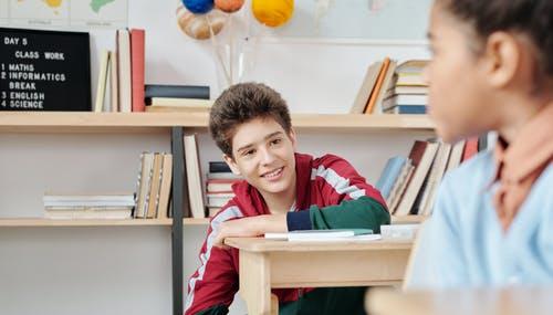 A kid in a class