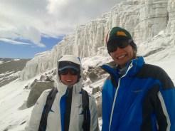 Liezel and Christel below the glacier at Grjotlia