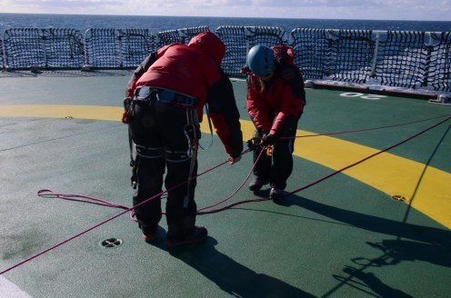 Rope training aboard the SA Agulhas II