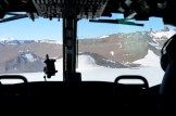 Arriving by helicopter at Troll in