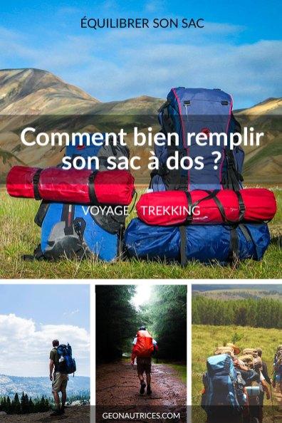 Savoir bien remplir son sac à dos est une étape importante de la préparation d'une randonnée ou d'un voyage. Cela permet de vous économiser et de préserver votre dos ! #voyage #trekking #sac-a-dos