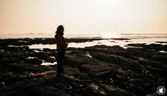Coucher de soleil sur l'océan, Penmarc'h, Bretagne
