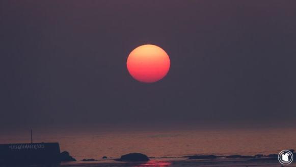 Soleil orange, Penmarc'h, Bretagne