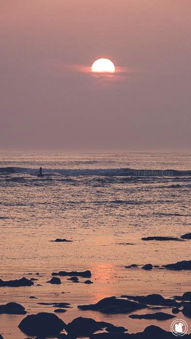 Un beau coucher de soleil depuis Penmarc'h, Bretagne