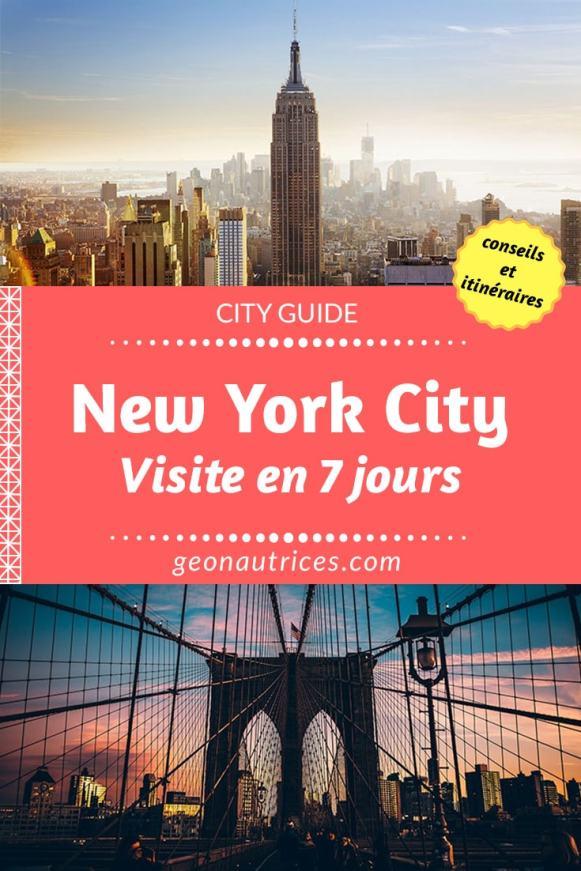 Visiter New York en 7 jours avec notre planning testé et approuvé ! ;) Les quartiers à voir, les activités à faire, les bons plans à ne pas manquer... #NewYork #Voyage