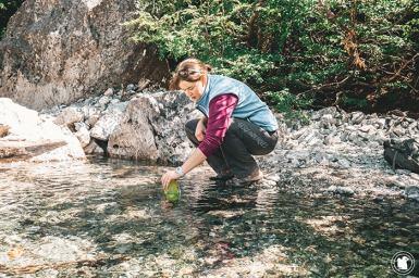 L'eau est potable lors de cette randonnée