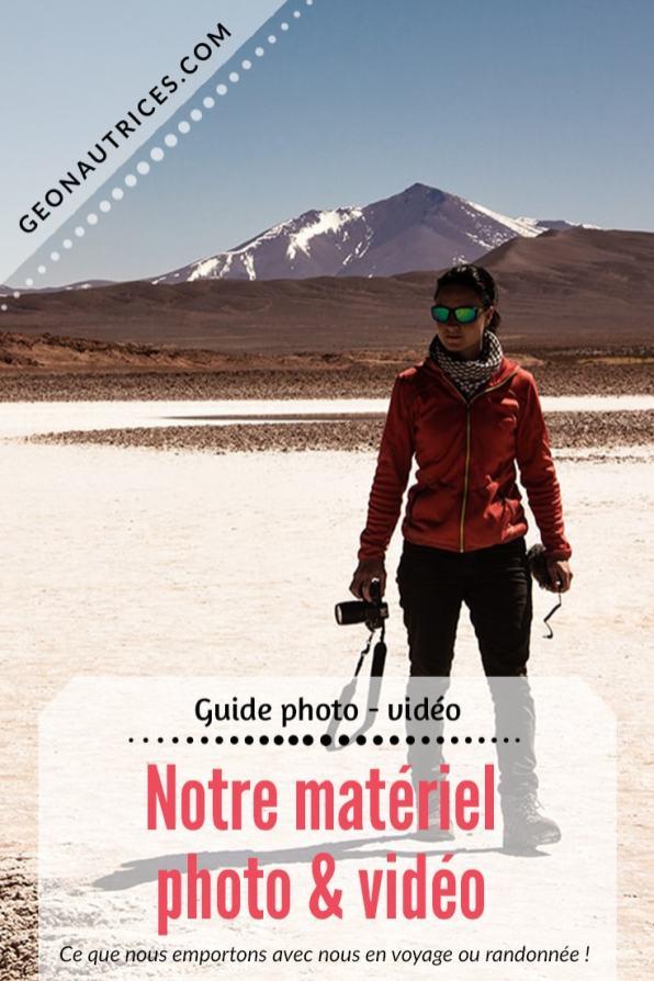 Voici la liste de notre matériel photo et vidéo que nous avons au quotidien avec nous en voyage ou en randonnée. Cet article pourra vous aider à choisir votre matériel si vous souhaitez débuter en photo et/ou vidéo ! ;) Allez lire l'article ! #photo #vidéo #équipement #blogging