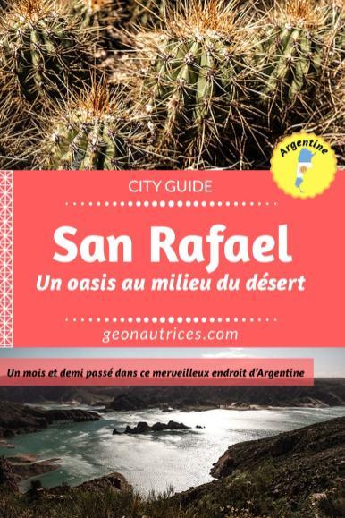 San Rafael est un oasis au milieu du désert en Argentine. A seulement 2h30 au sud de Mendoza, cette ville et ses alentours à beaucoup à offrir ! Tellement que nous y sommes restées un moi et demi ! On vous explique dans notre article pourquoi ce coin vaut le détour et tout ce qu'il y a à faire ! Filez lire ça ! ;) #sanrafael #argentine #voyage #travel #cityguide #canyon #oasis