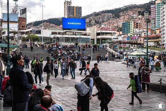 Plaza mayor San Francisco à La Paz