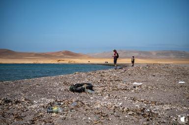 Plage poubelle de la réserve naturelle de Paracas