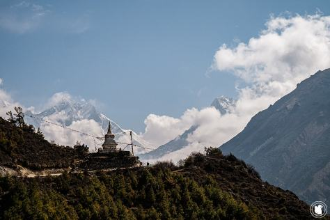 Trek des 3 cols - Stupa face au Lothse