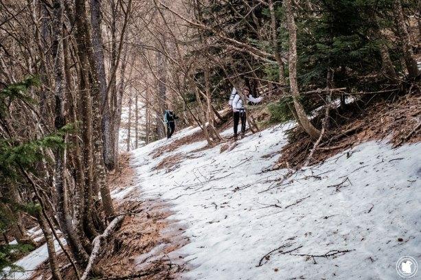 Trek Val d'Allos passage de névés