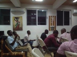 Hub Accra's community debates a new initiative