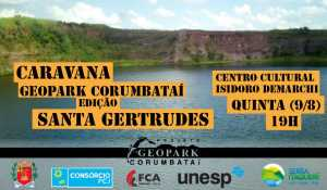 Convite à Caravana Geopark Corumbataí em Santa Gertrudes
