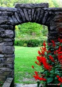 Framed garden. Pioneer Garden, Spring Mill State Park, Indiana