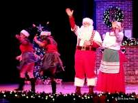 Santa's Fireside Feast Dinner Show. Enjoy dinner with Santa and Mrs Claus. All the elves are so helpful and Mrs Claus brings everyone a Christmas cookie. After dinner all the children get to meet Santa.